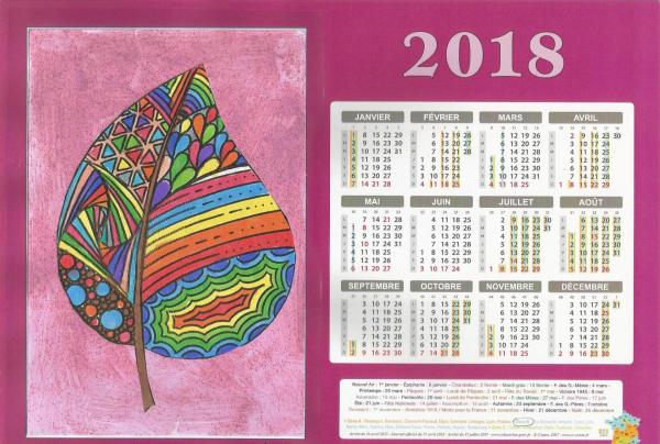 Calendrier 2018 ecole 2